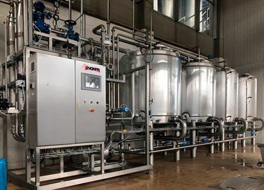 Óptima limpieza de un proceso de productos lácteos